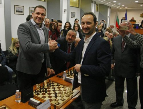 A draw against grandmaster Veselin Topalov